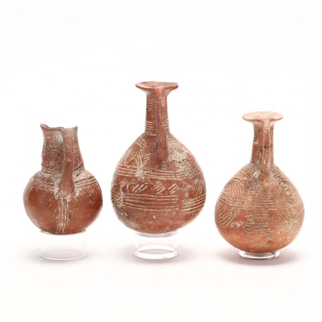 Three Cypriot Early Bronze Age Polished Red Ware - 6