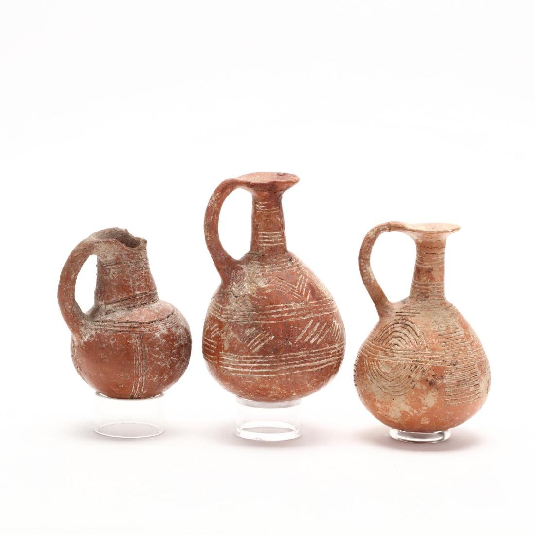 Three Cypriot Early Bronze Age Polished Red Ware - 7