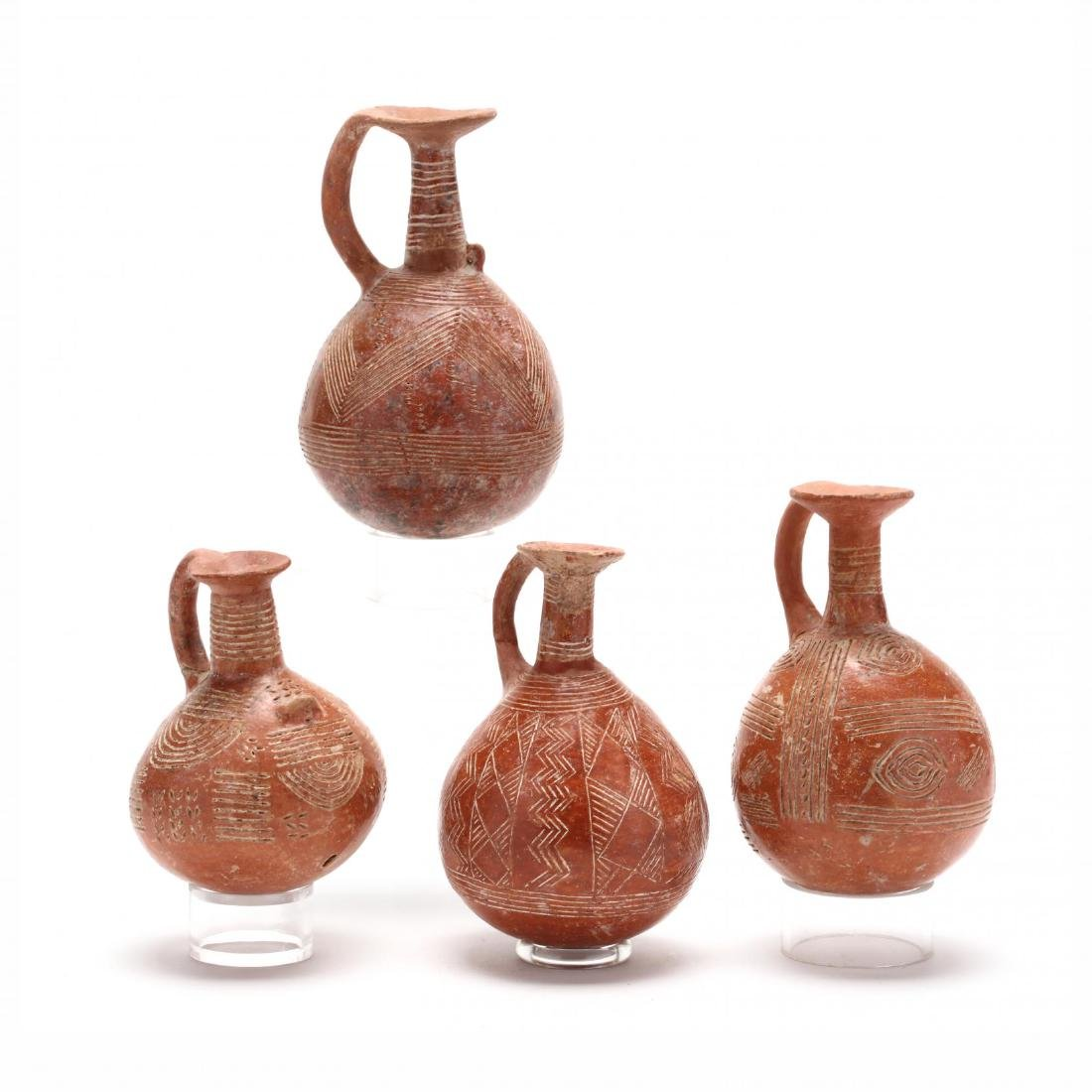 Set of Four Cypriot Early Bronze Age Polished Red Ware