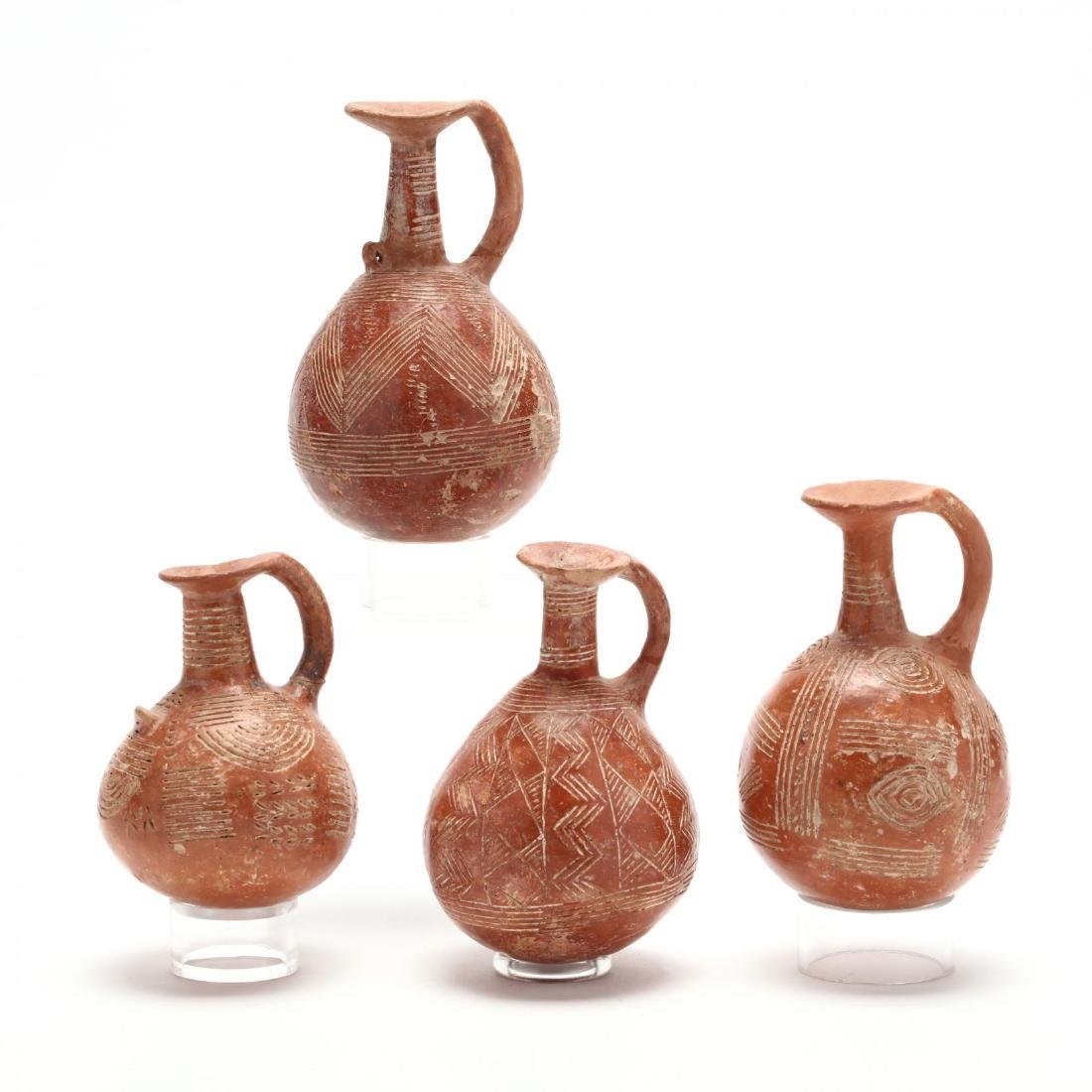 Set of Four Cypriot Early Bronze Age Polished Red Ware - 3