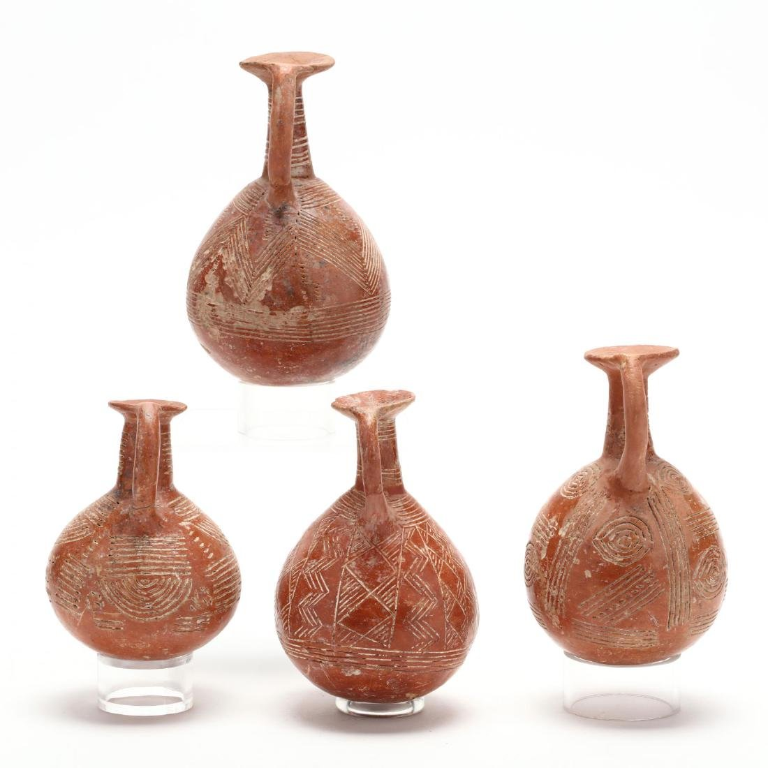 Set of Four Cypriot Early Bronze Age Polished Red Ware - 4