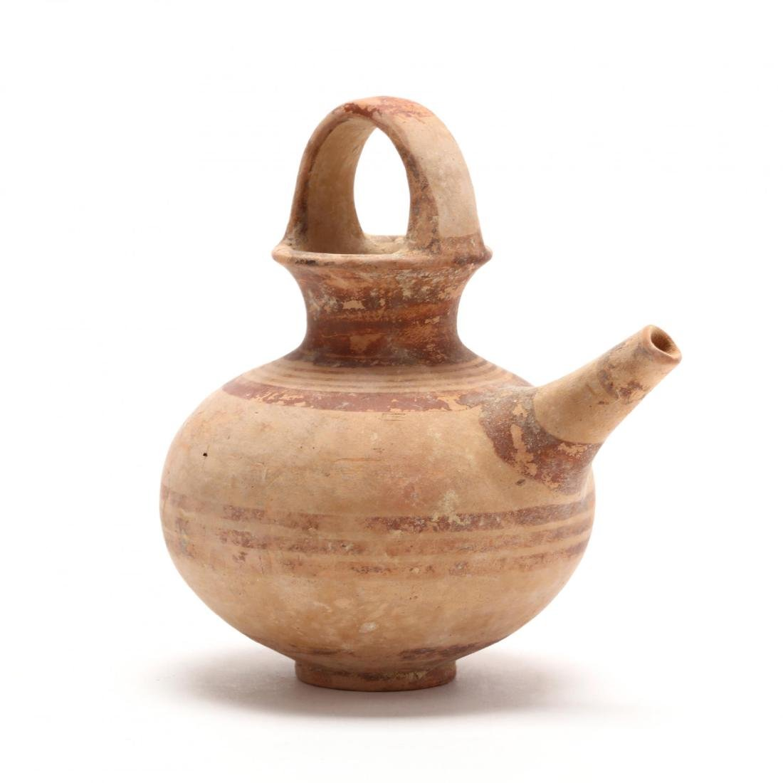 Cypriot Late Bronze Age Juglet With Spout