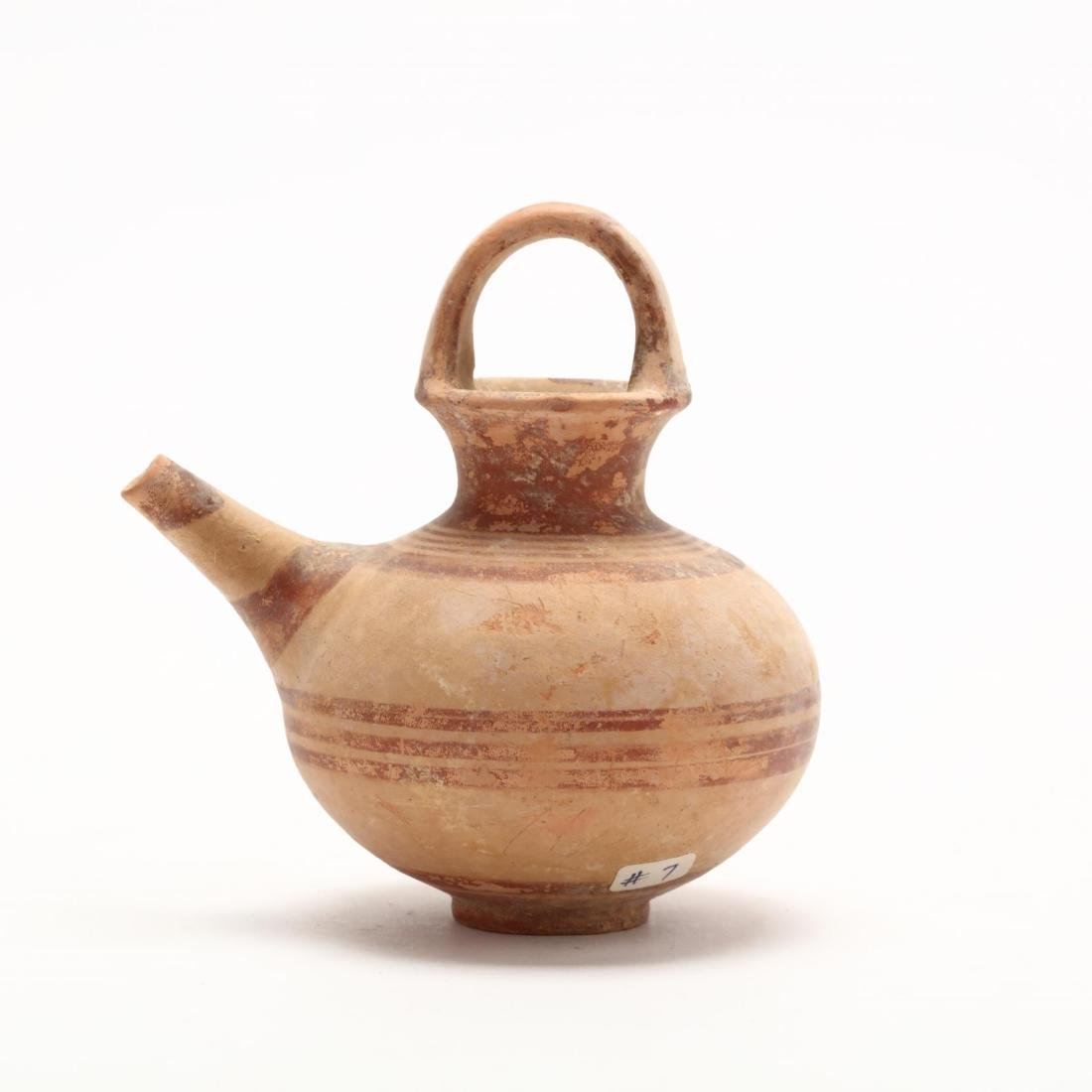 Cypriot Late Bronze Age Juglet With Spout - 3