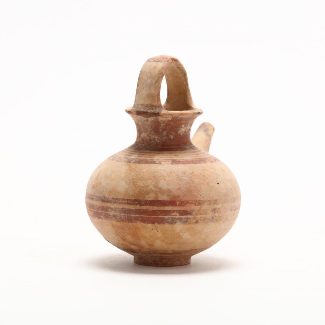 Cypriot Late Bronze Age Juglet With Spout - 4