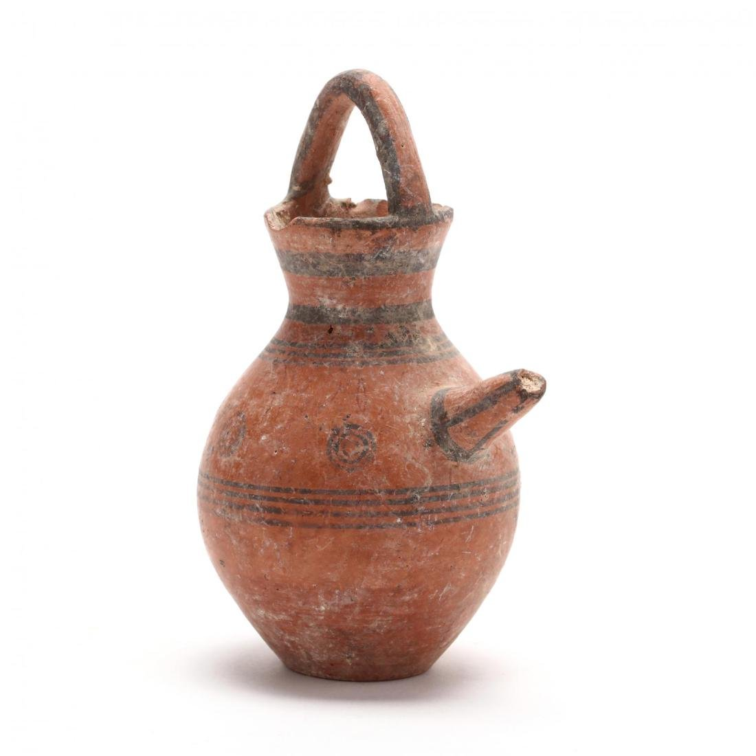 Cypriot Red Ware Juglet With Spout