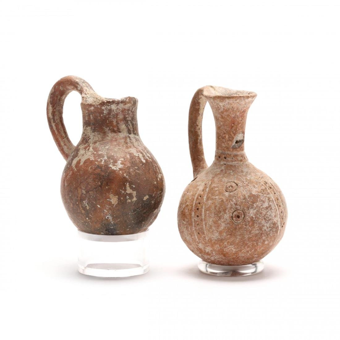 Two Cypriot Middle Bronze Age Red Ware Juglets