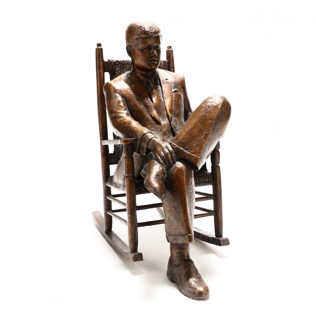 Cypriot Bronze of John F. Kennedy Relaxing in His