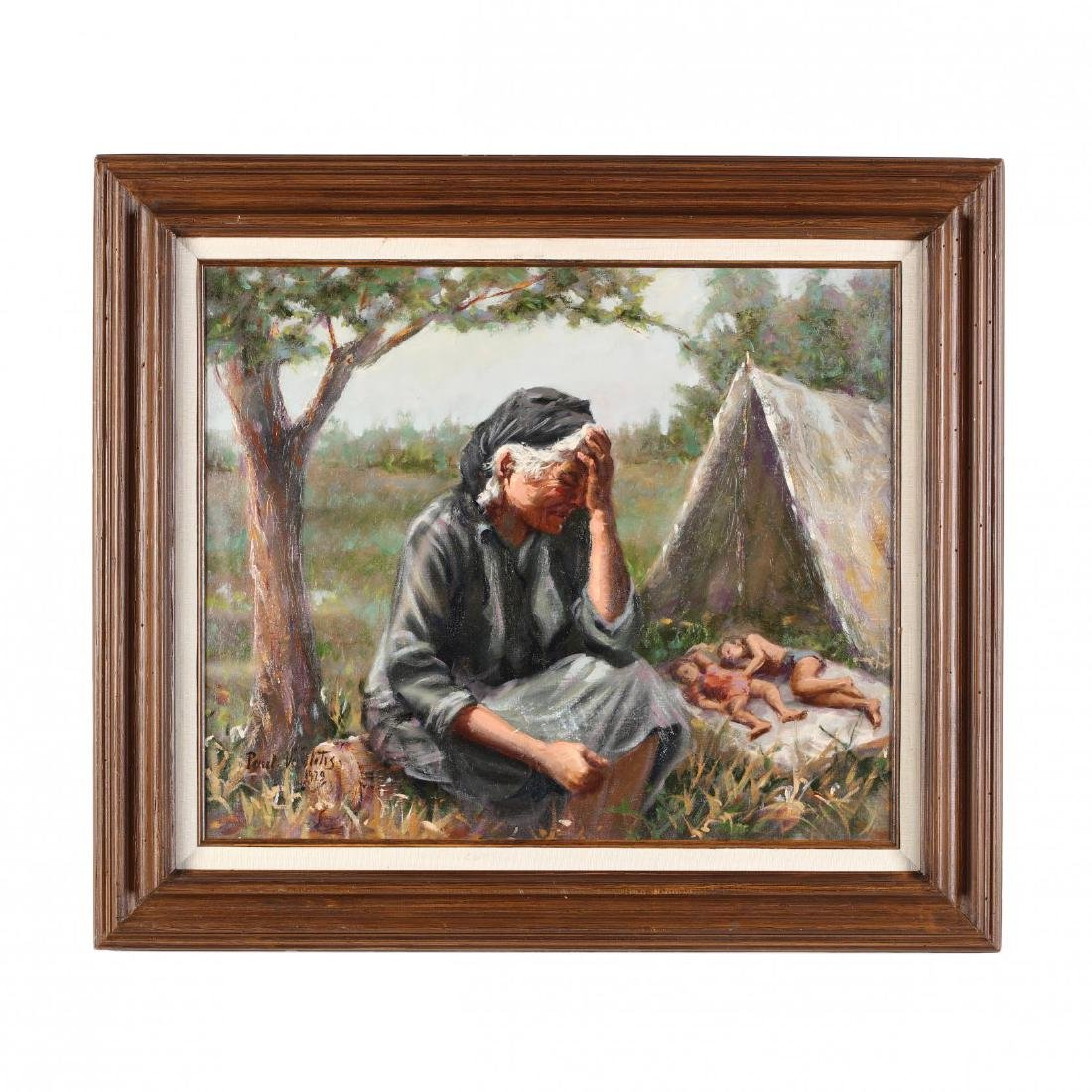 Paul Vavlitis (Cypriot-American, 1914-2004), Grieving