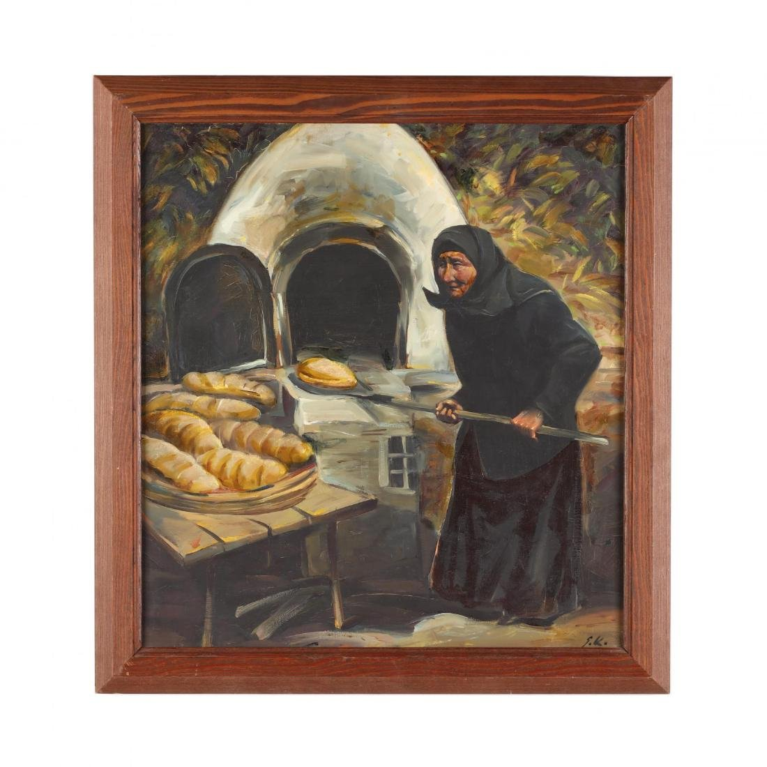 Greek or Cypriot Painting,  At the Oven