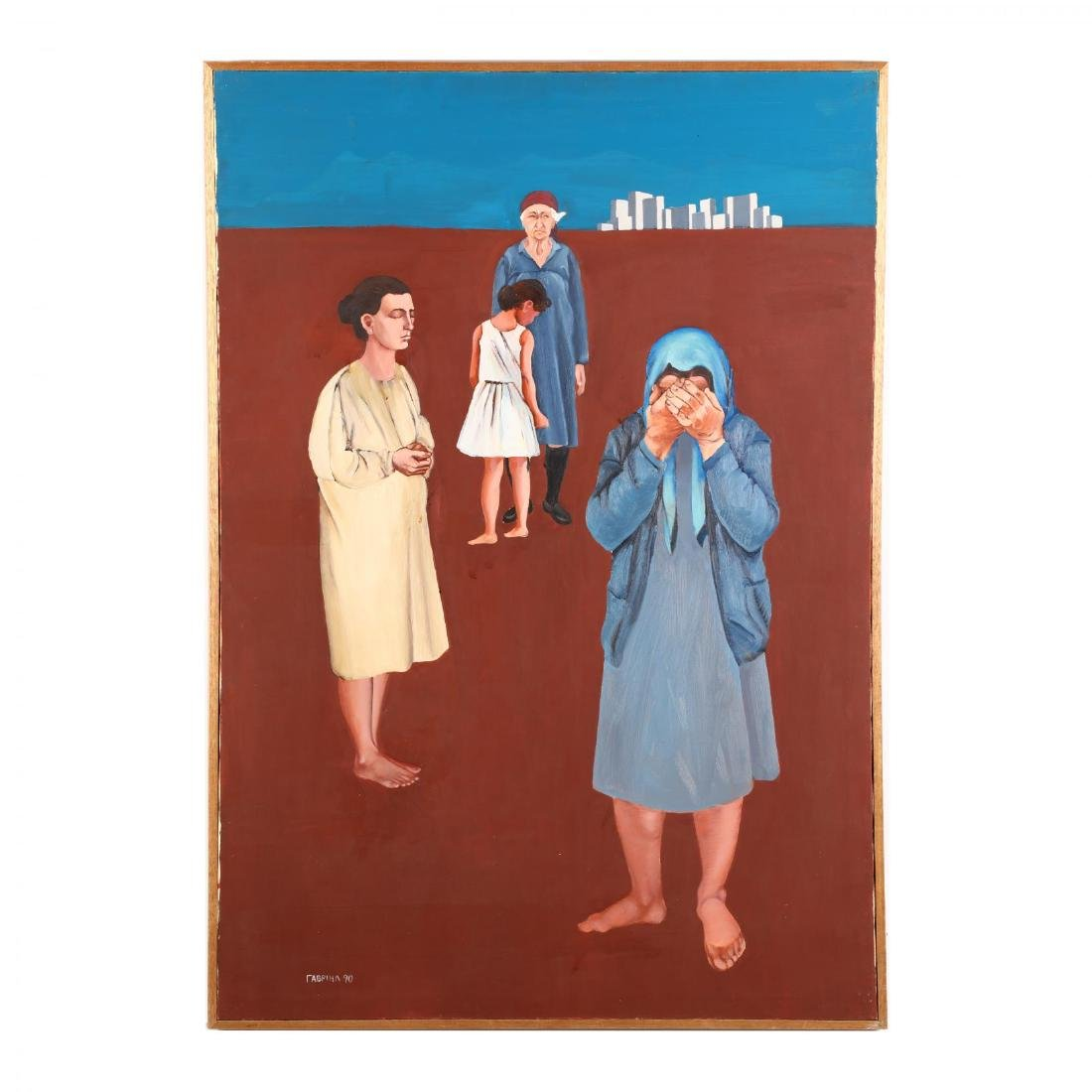 Cypriot Painting of Refugees