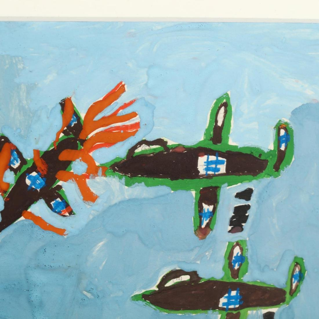 Two Cypriot Paintings by Greek Refugee Children - 3