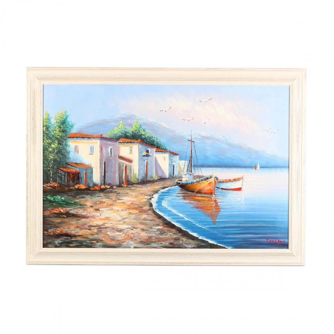 Painting of the Greek Island Syros