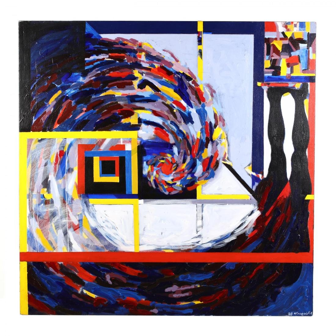 Greek or Cypriot Modernist Abstract Painting