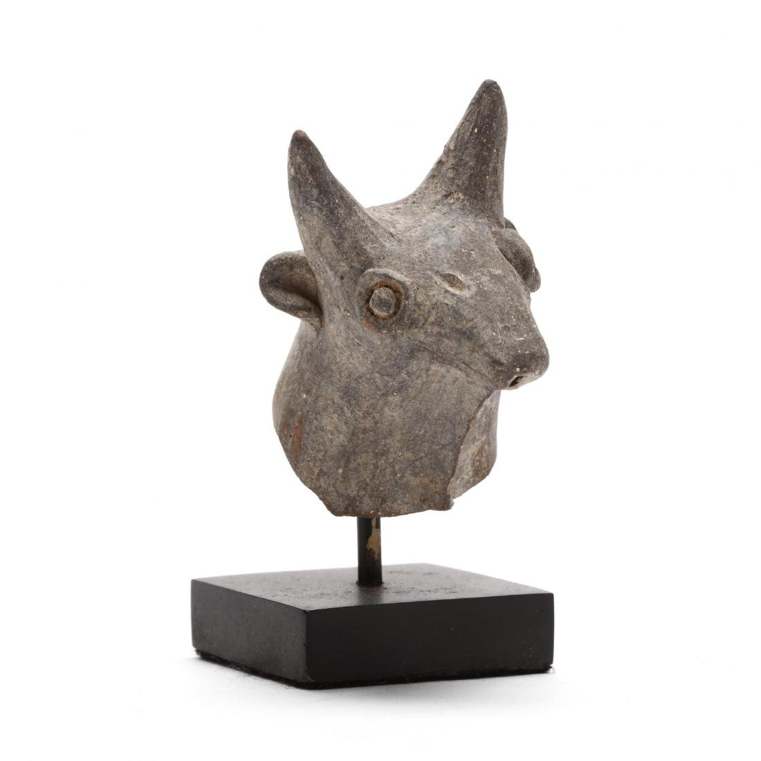 Cypriot Bronze Age Head of a Bull From a Larger Piece
