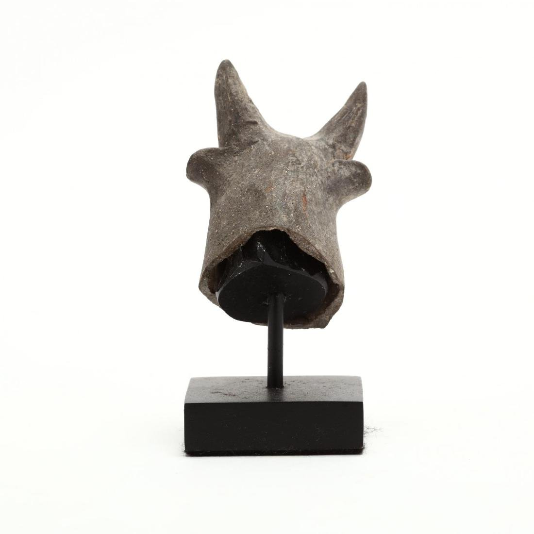 Cypriot Bronze Age Head of a Bull From a Larger Piece - 3