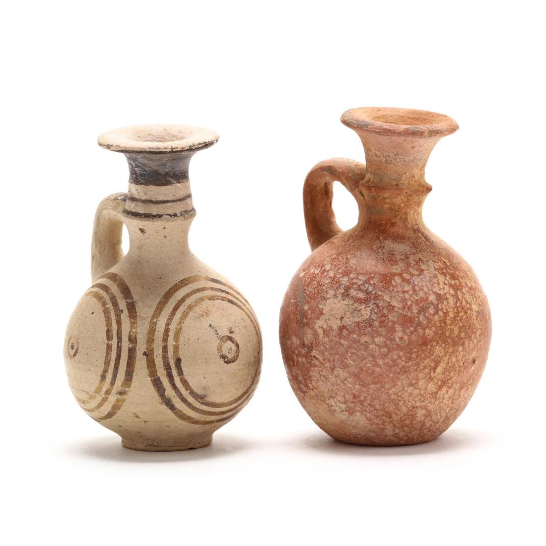 Two Cypro-Archaic Small Terracotta Juglets