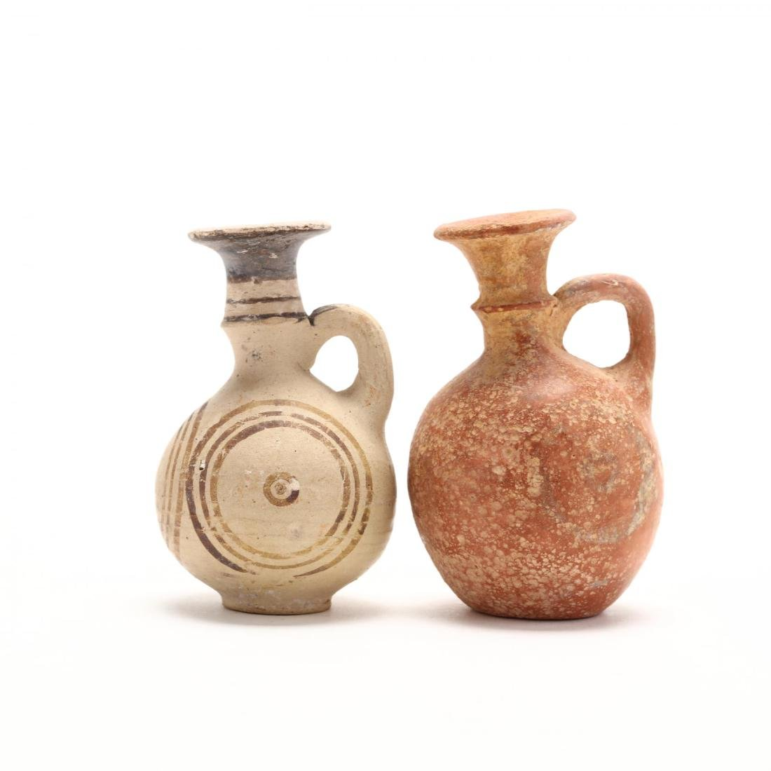 Two Cypro-Archaic Small Terracotta Juglets - 2