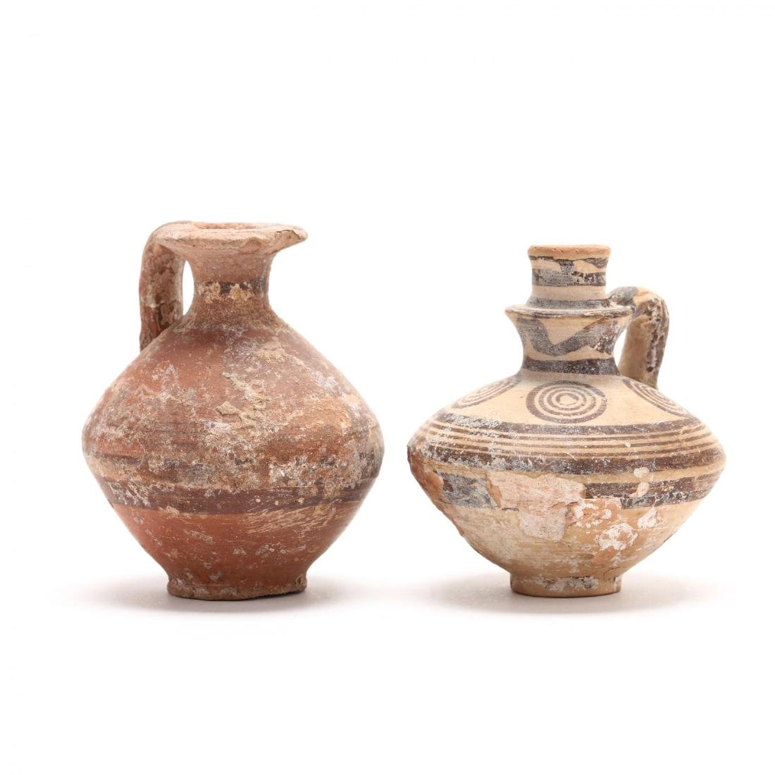 Two Cypriot Bronze Age Red Ware Juglets