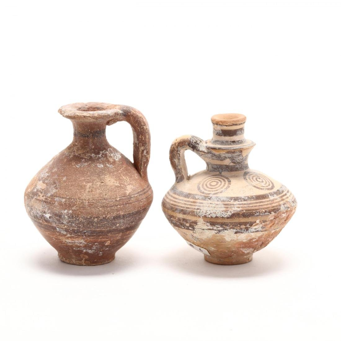 Two Cypriot Bronze Age Red Ware Juglets - 3