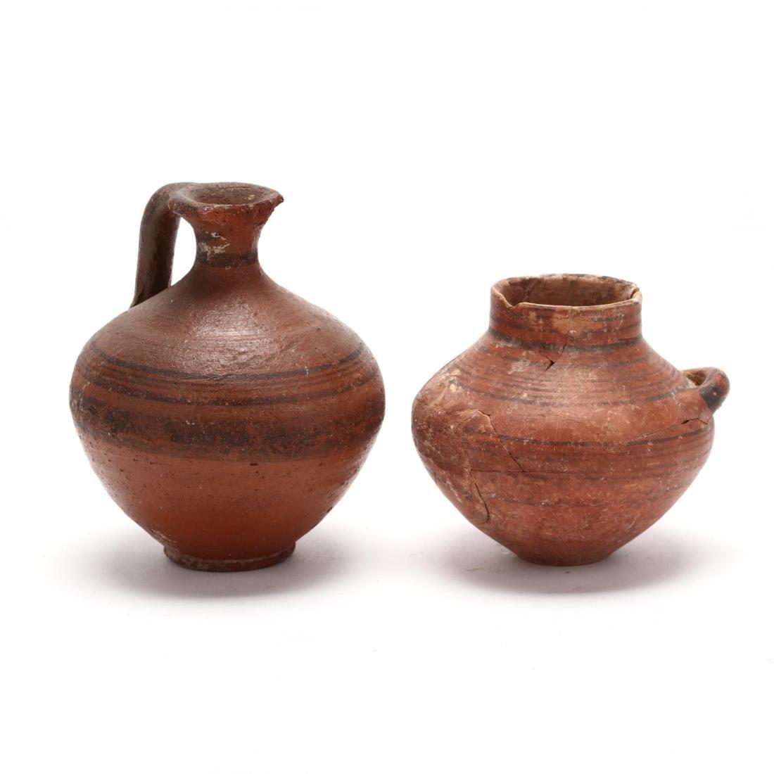 Two Cypro-Geometric Red Ware Jars