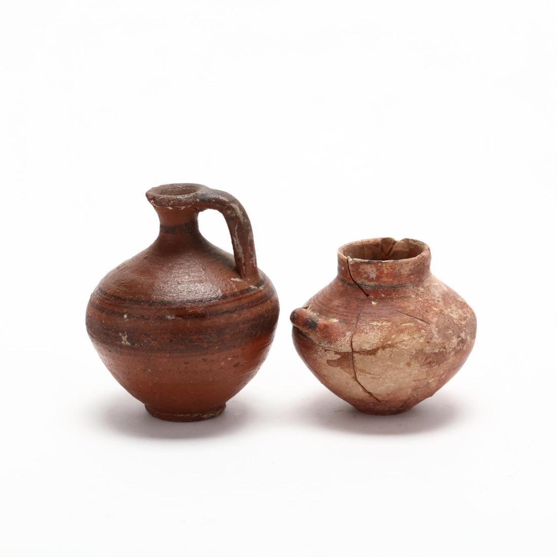 Two Cypro-Geometric Red Ware Jars - 3