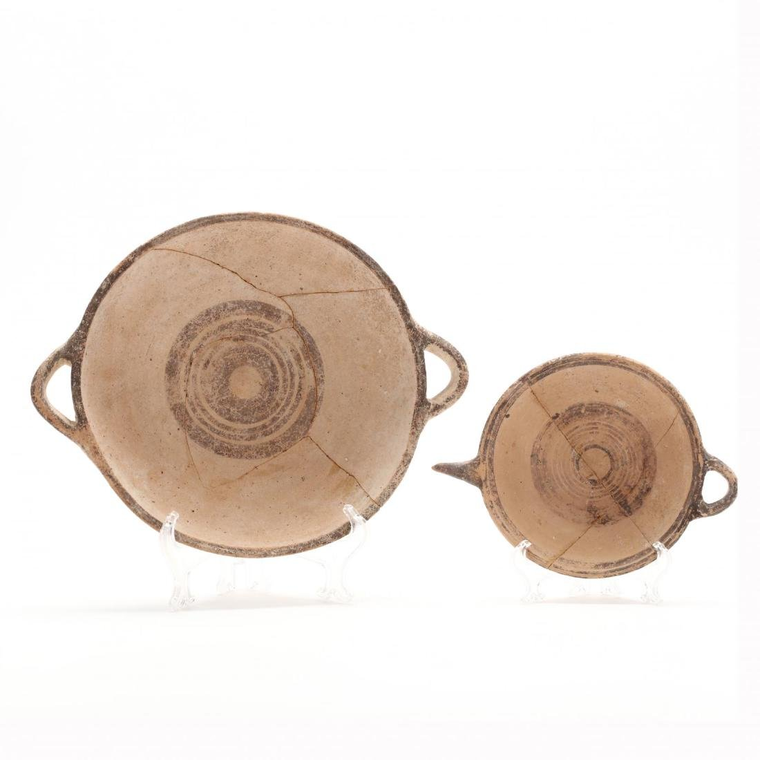 Two Cypro-Geometric Dishes