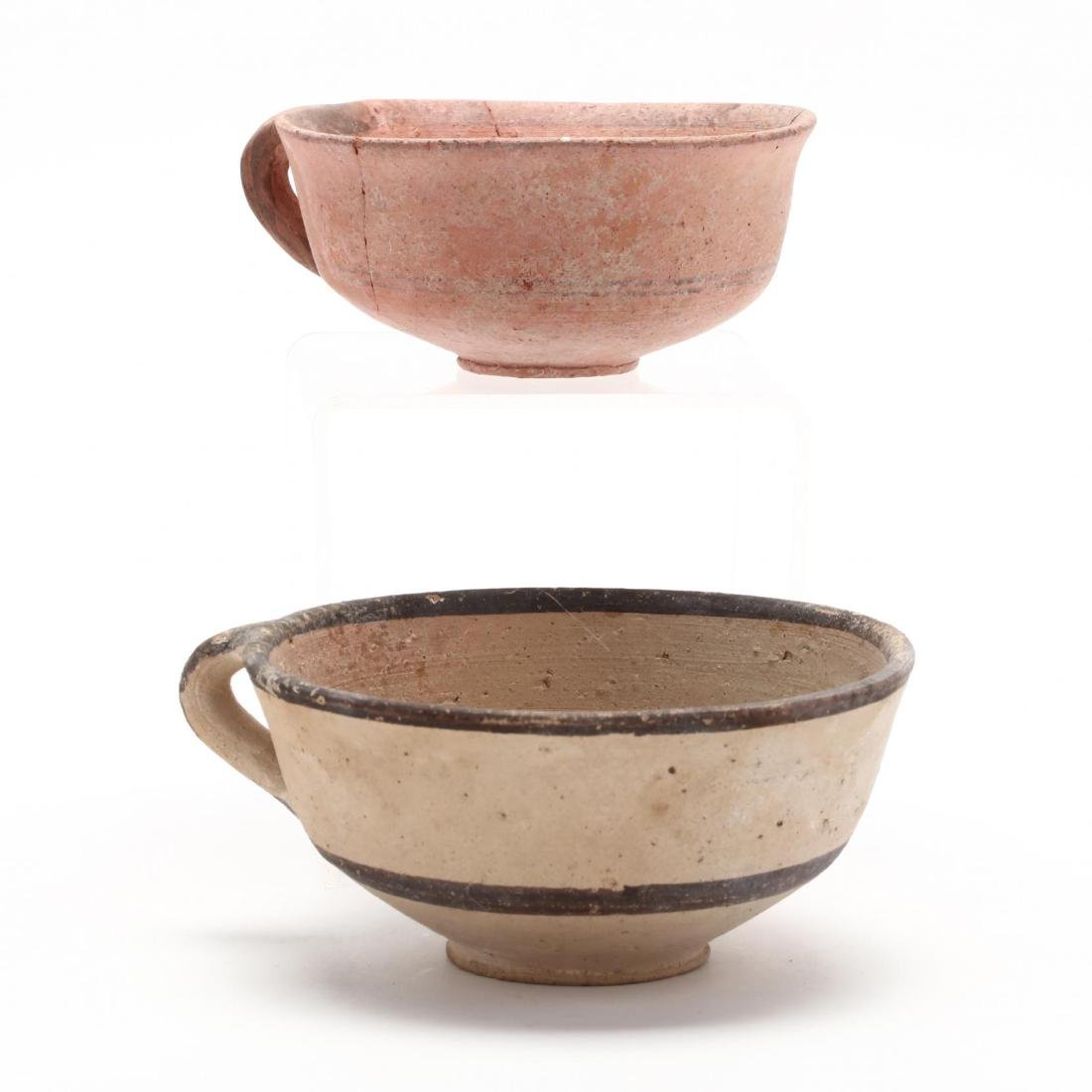Two Cypro-Geometric One-Handled Bowls