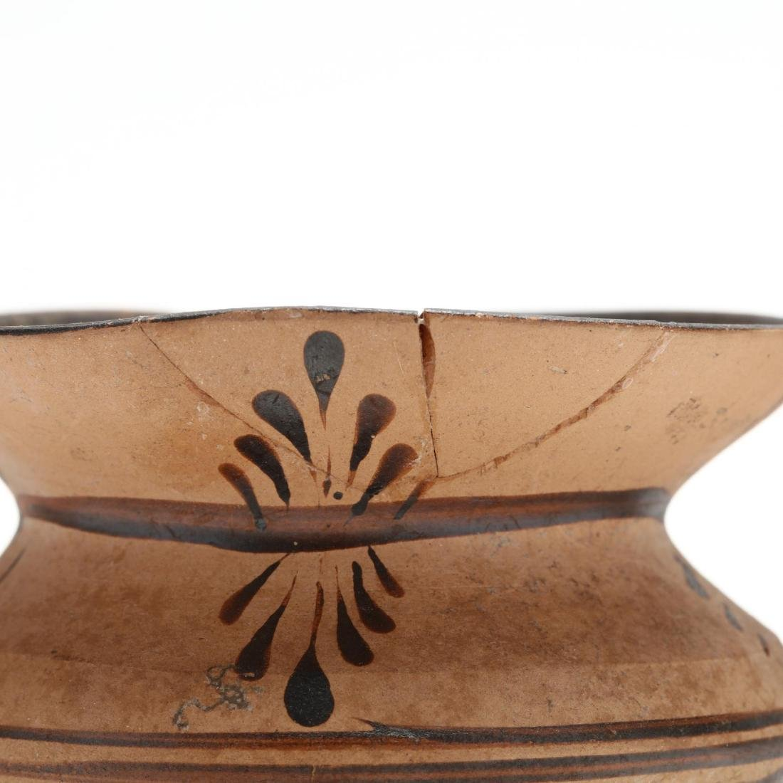 Greek Two-Handled Terracotta Wine Cup From Cyprus - 3