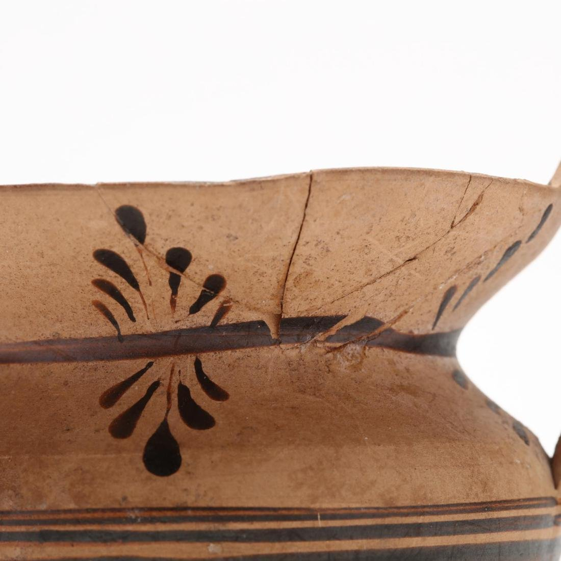 Greek Two-Handled Terracotta Wine Cup From Cyprus - 6