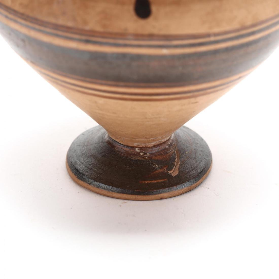 Greek Two-Handled Terracotta Wine Cup From Cyprus - 7
