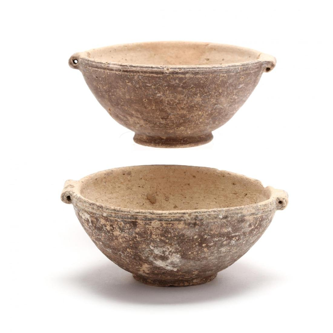 Two Cypriot Hellenistic White Ware Bowls, Ex. Morris