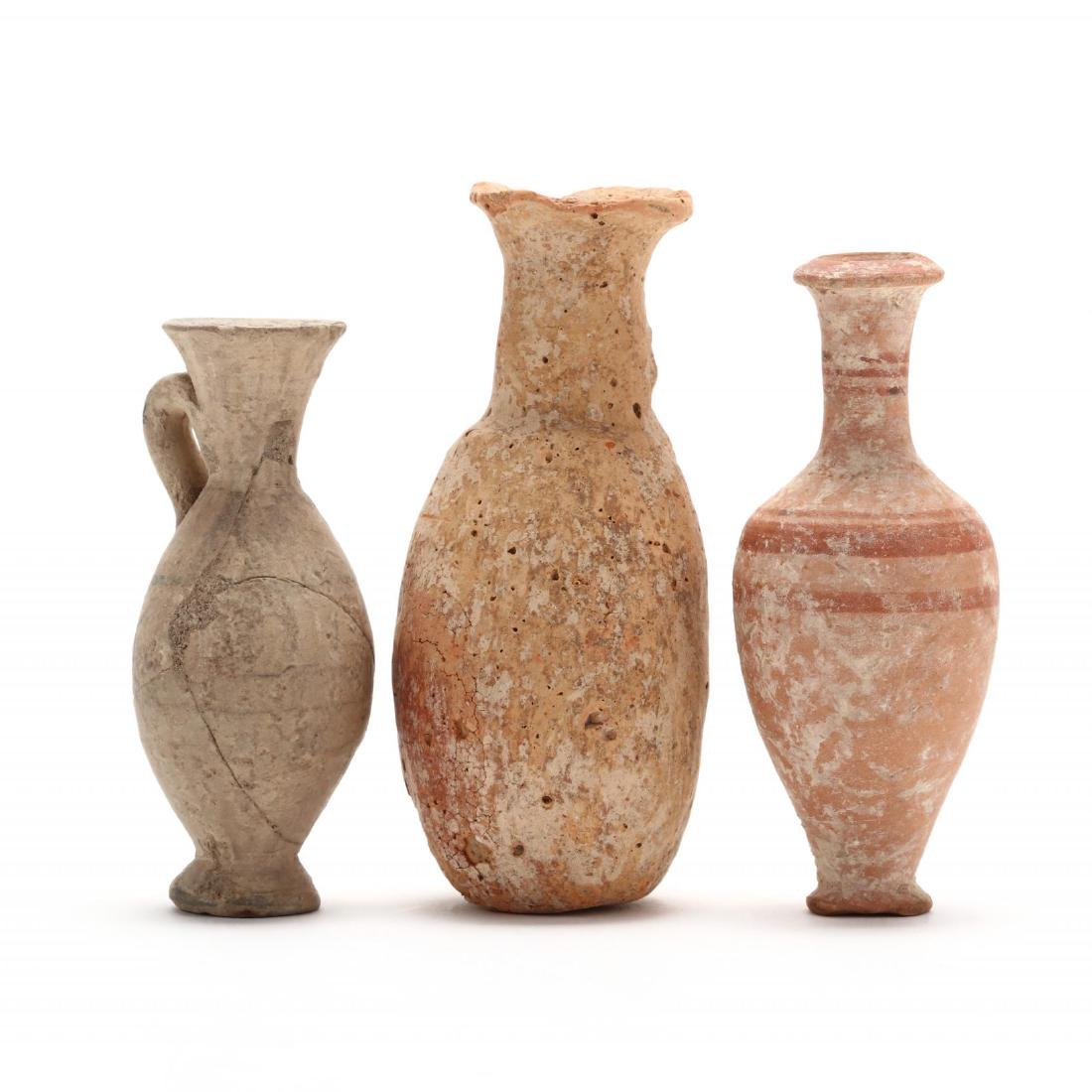 Three Diminutive Cypriot Hellenistic Bottles, One Ex.