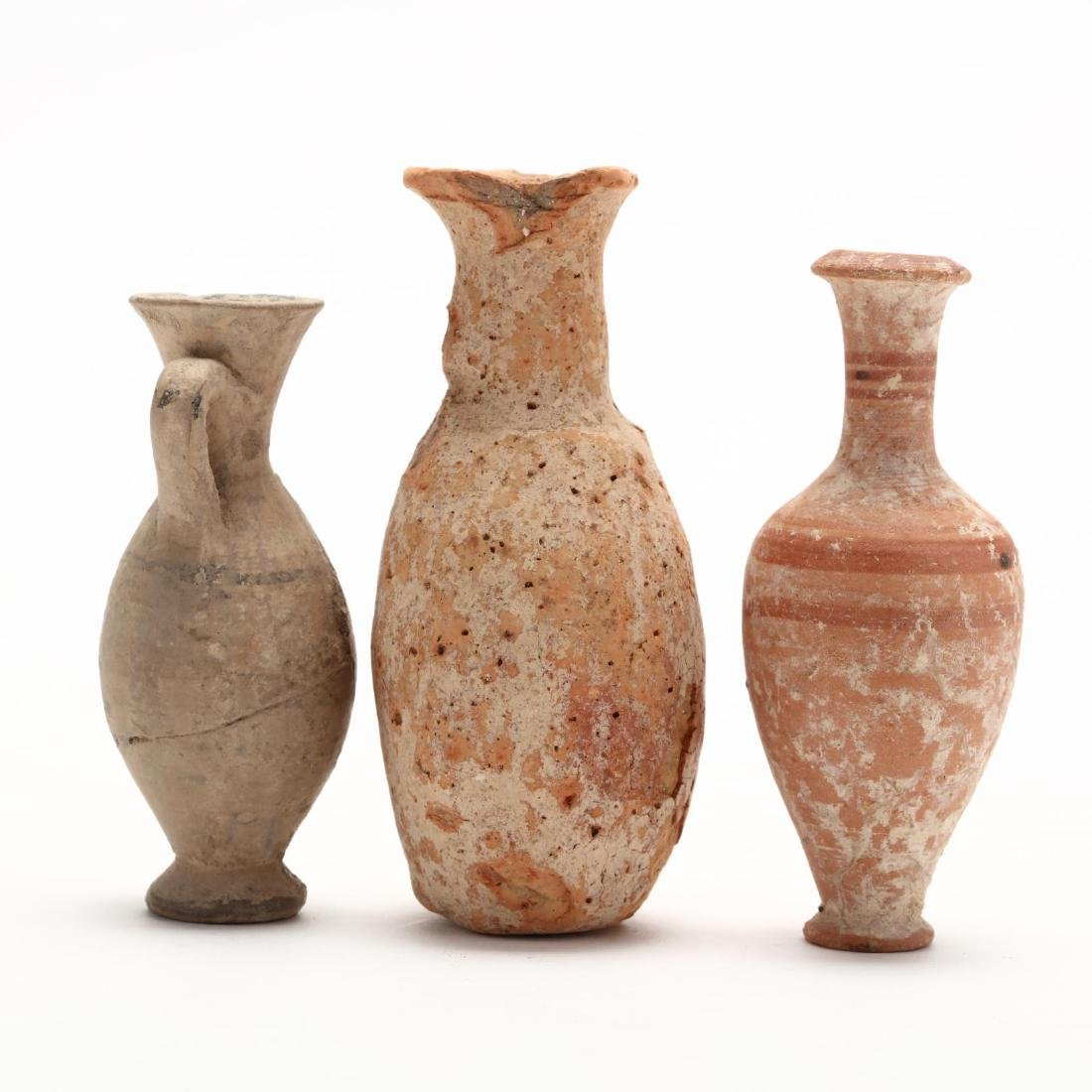 Three Diminutive Cypriot Hellenistic Bottles, One Ex. - 4