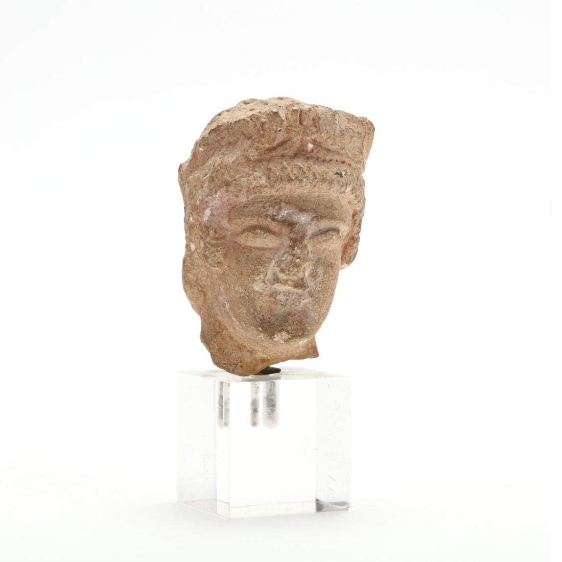 Cypriot Limestone Head of a Man