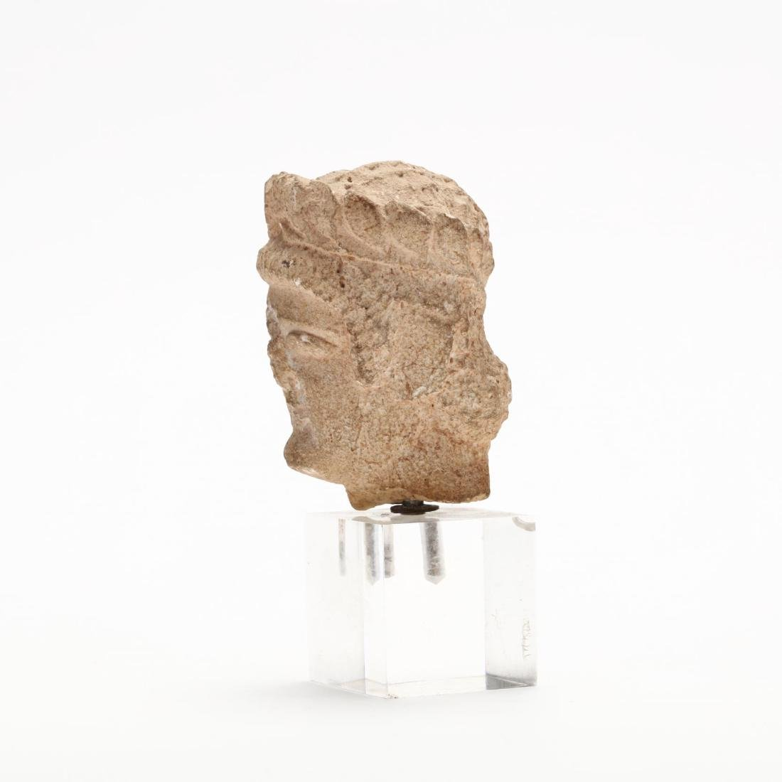 Cypriot Limestone Head of a Man - 2