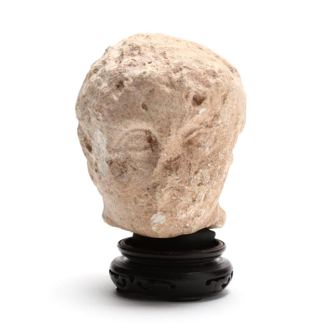 Cypriot Limestone Head of a Youth