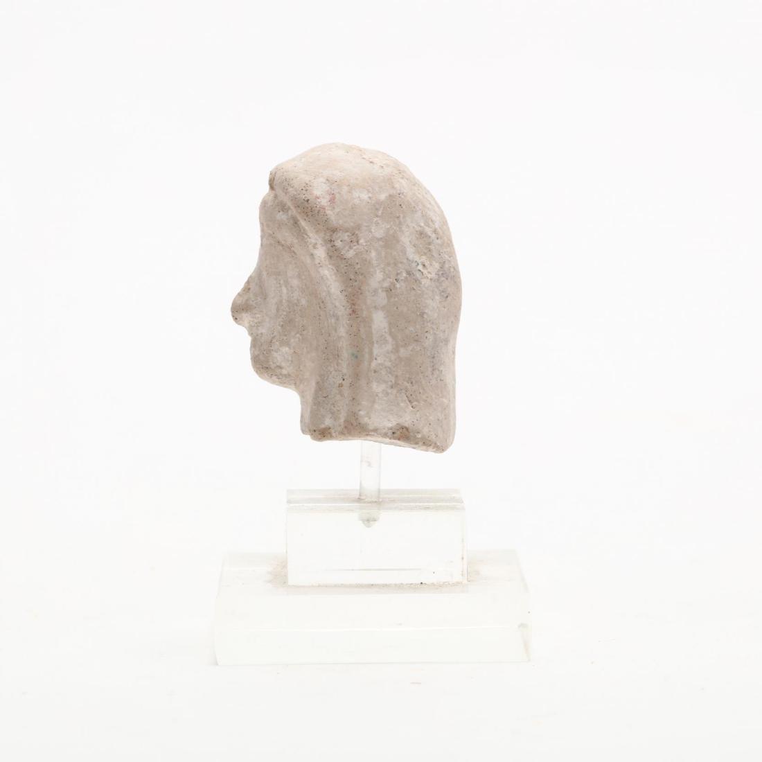 Cypriot Limestone Head of a Lady - 2