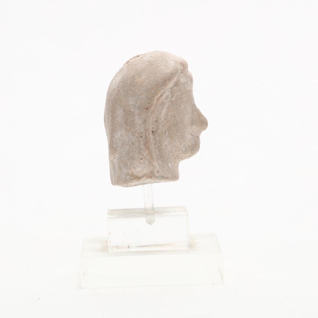 Cypriot Limestone Head of a Lady - 4