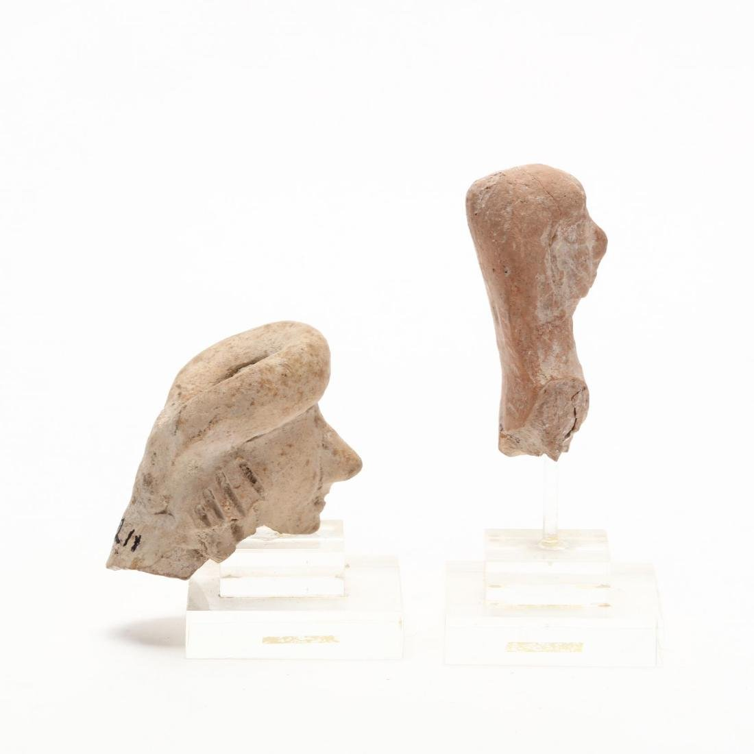 Two Cypro-Archaic Terracotta Heads - 2