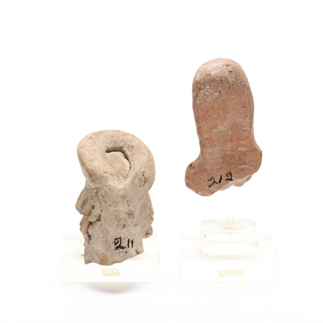 Two Cypro-Archaic Terracotta Heads - 3
