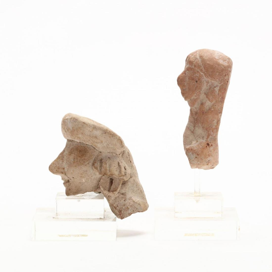 Two Cypro-Archaic Terracotta Heads - 4