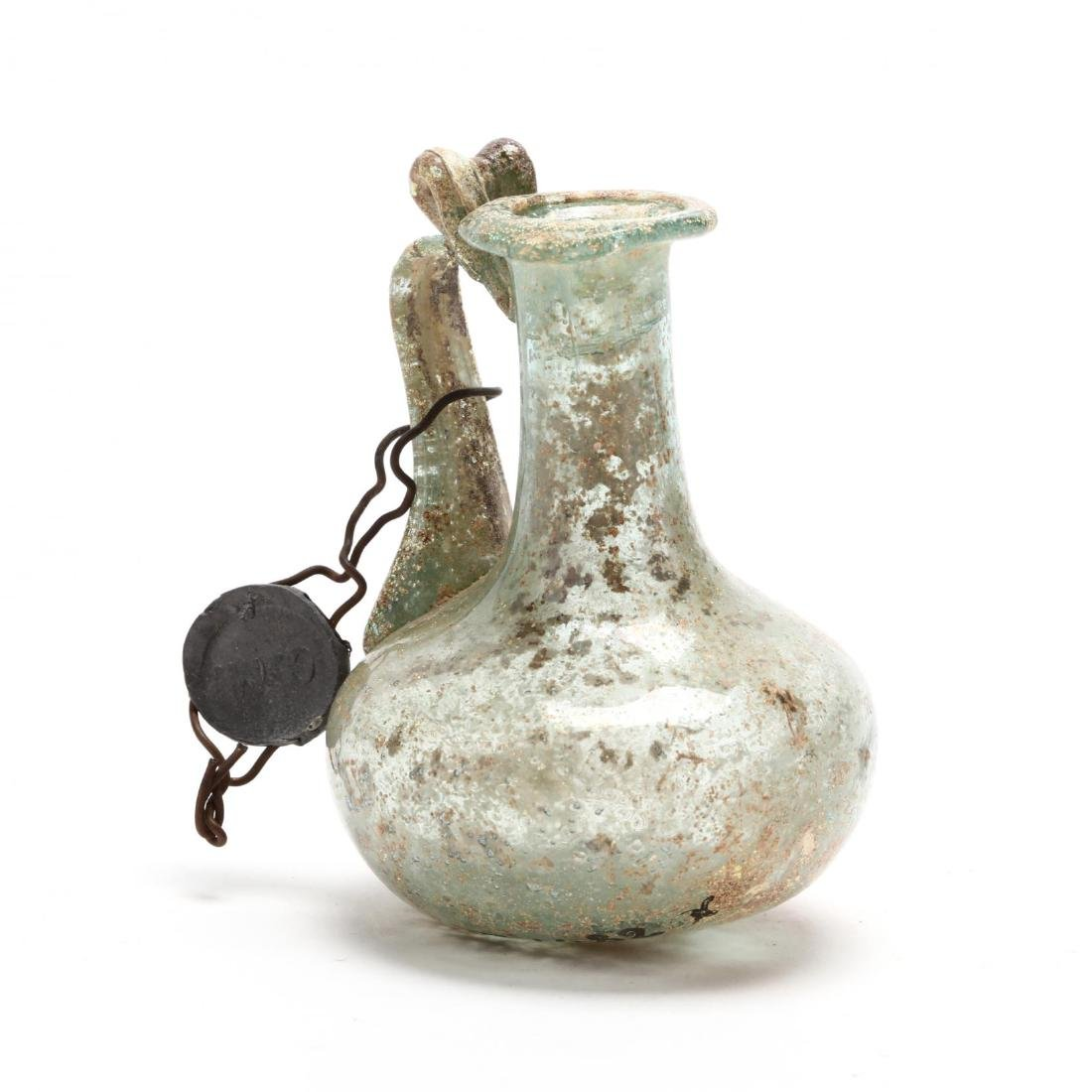 Cyprus, Small Roman Glass Bottle - 2