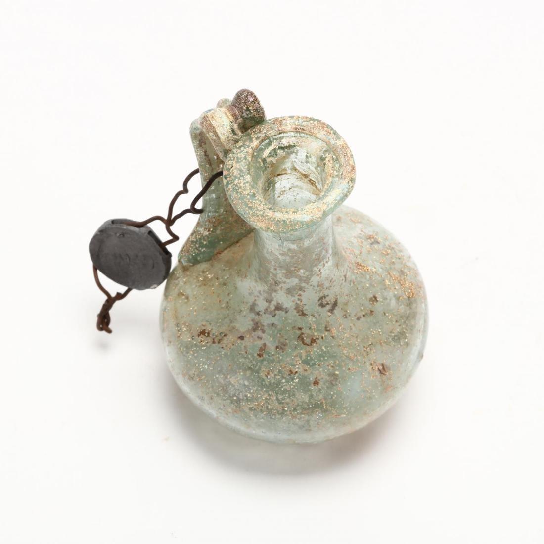 Cyprus, Small Roman Glass Bottle - 3