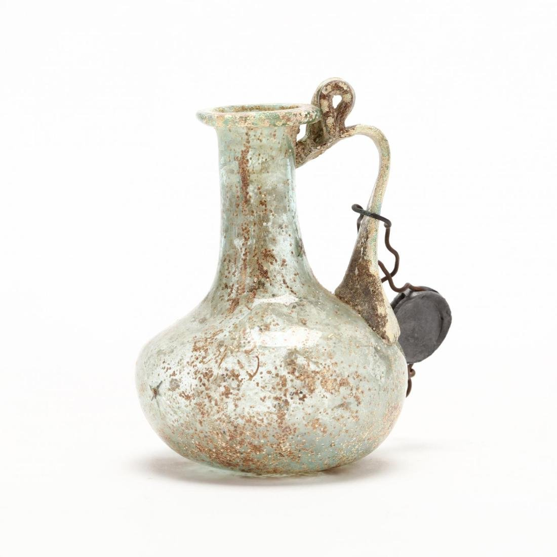 Cyprus, Small Roman Glass Bottle - 4
