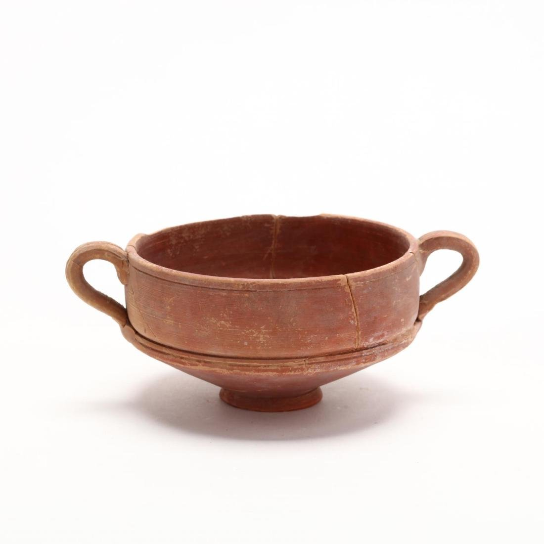 Cypriot Hellenistic Footed Red Ware Bowl - 4