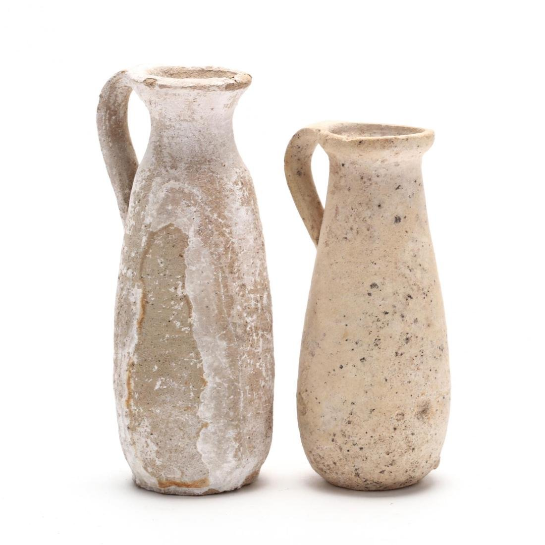 Two Cypriot Hellenistic Plain White Ware Juglets, Ex.