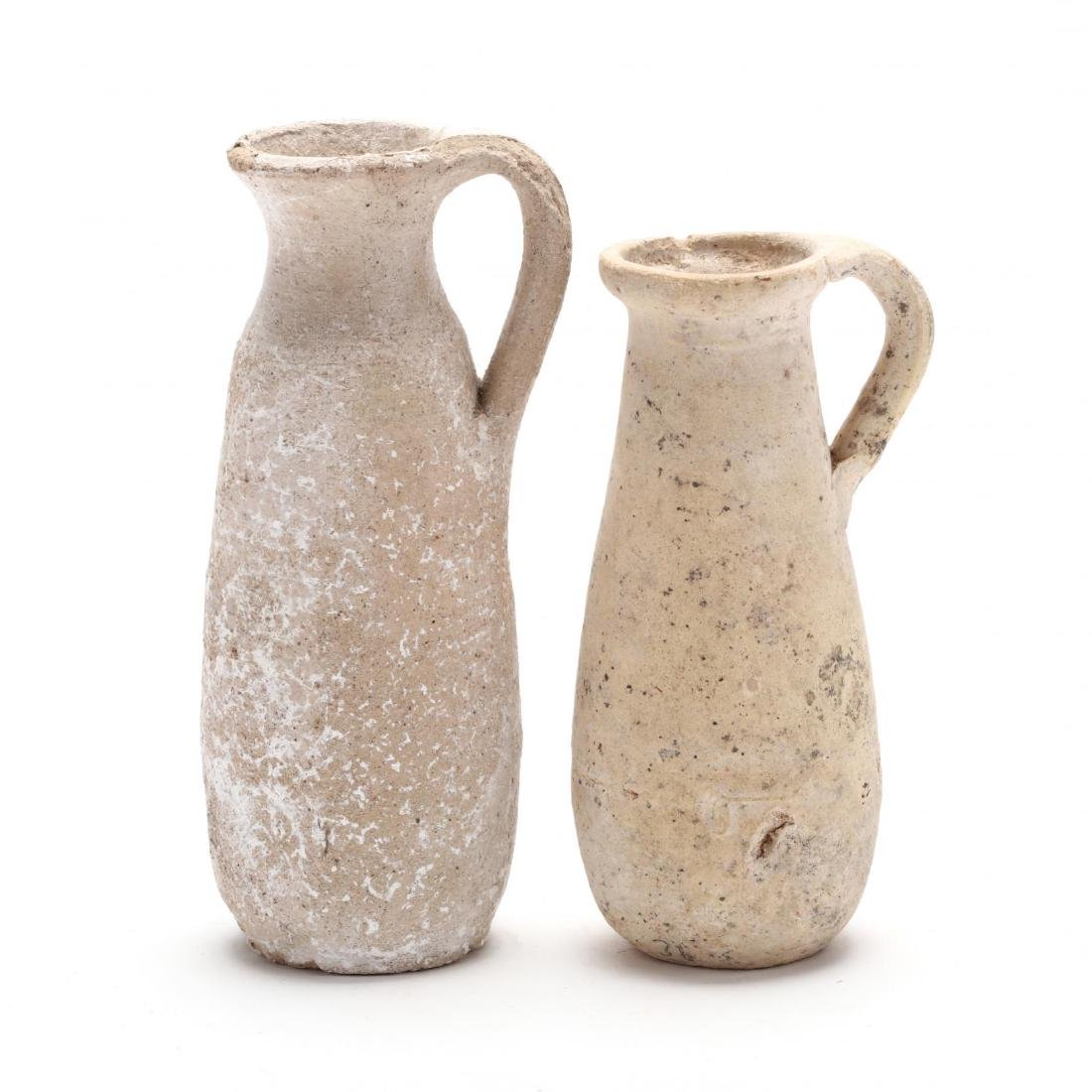 Two Cypriot Hellenistic Plain White Ware Juglets, Ex. - 2