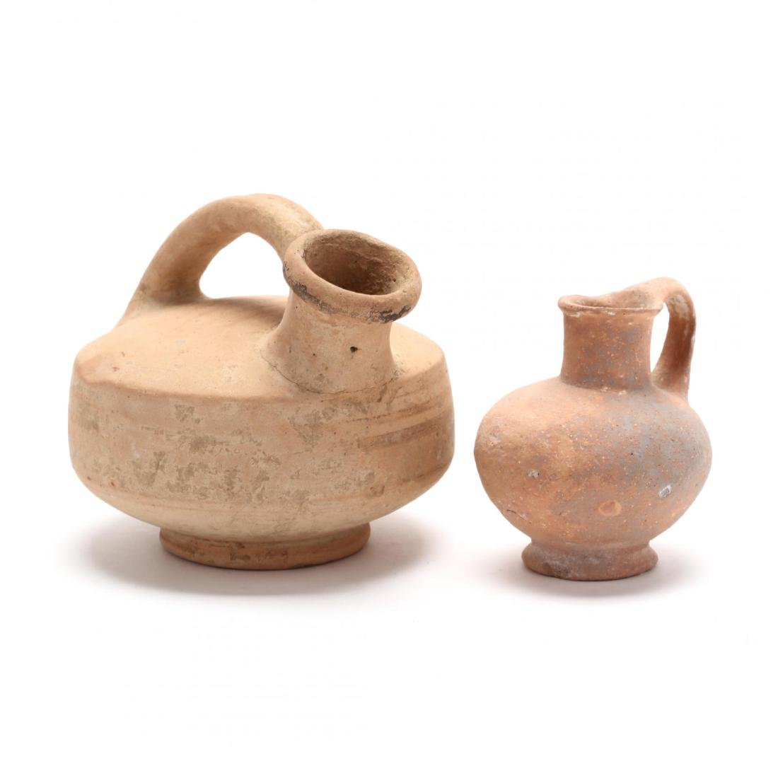 Two Ancient Cypriot Vessels, One Ex. Morris Collection