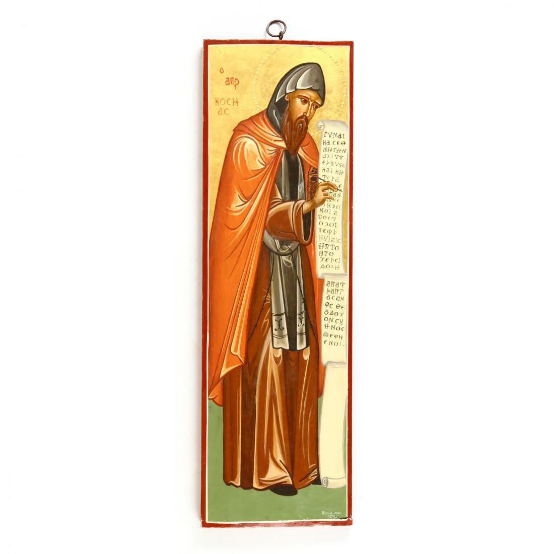 Contemporary Greek Icon of St. Kosmas of Aetolia