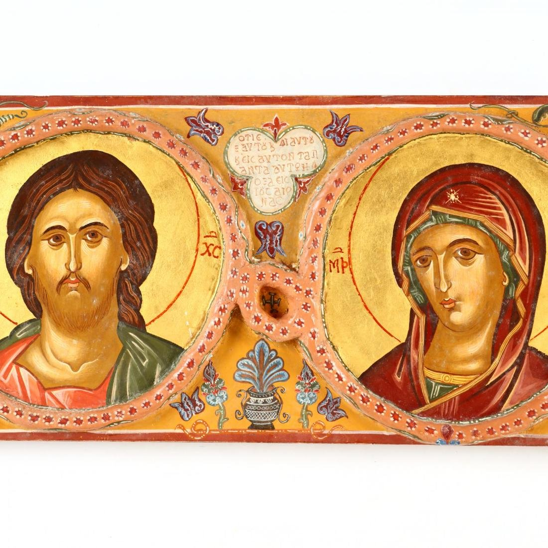Contemporary Greek Deisis Row Icon - 3